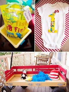 Caden's favorite books are Dr. Suess books so lets plan a Dr. Suess 2nd birthday party! How cute are these ideas!