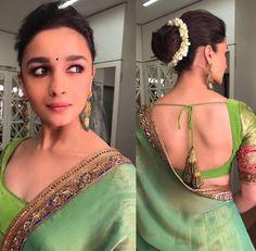 ece63d25cbe89a Indian wedding fever.. Yellow and pink silk saree with designer yet ...