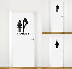 Add a little humor to your house with these funny bathroom door character decals