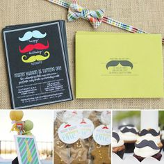 "Cute idea for baby boy 1st birthday:   ""Little Man Mustache Party"""