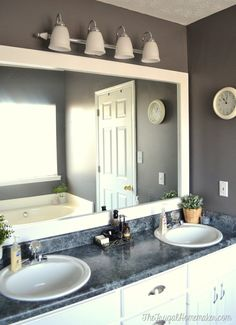 Bathroom Makeovers For Less tiny bathroom makeover - day 2 | polyblend grout renew, grout