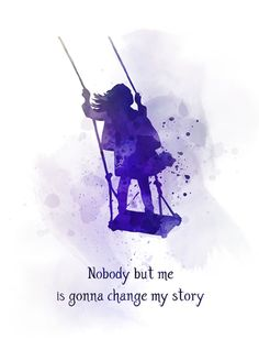 Matilda Quote ART PRINT Roald Dahl Nursery Inspirational Gift Wall Art Home Decor Gift Ideas Birthday Christmas Childrens Book watercolour Nobody but me is gonna change my story True Quotes, Book Quotes, Words Quotes, Roald Dahl Quotes, Qoutes, Poetry Quotes, Humor Quotes, Wall Quotes, Sayings