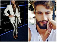 Tendências: Out (fora de moda) - Calça Listrada; In (tendência) - Barba