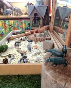 """Zoo inspired small world play at St Helens District High School Kindergarten ("""",)"""