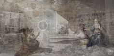 """Et verbum caro factum est | Assistita Fecondazione di Mammasantissima"" [Liturgia prima: l'Animale - slab3/3] 2013 © [Lo Mazareno] ominimedial-digitalfrottage-photomanipulation [proportions 2:1]#photomanipulation #glitch #photography #drawing #graphic #painting #digitalart #omnimedia #inkjet #fresco #esotericism #mythology #symbolism #apocalypse #abandoned #Leonardo #Legnanino #pollution #Dionysus #initiation #ritual #epos #alchemy #science #Mediterranean #beast #man #god #soul #love #art"