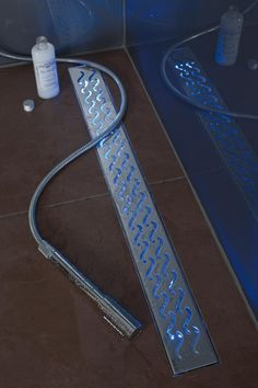 Got to put this ACO Shower Drain in my next shower. Shower mood lighting, how cool is this?