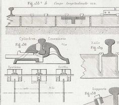Railroad supports 1872 French Antique Technical by CarambasVintage, $16.00