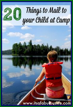 20 Things To Mail To Your Child At Camp - LOVE this!!! Plus - these are all awesome things for anytime during the summer - camp or no camp! :)  MUST DO!!! ♥ Her tip on how to get it to ship for free (SMART!)