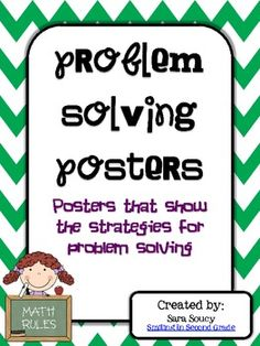 Strategies for Math Problem Solving Posters FREE!