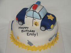 Police car cake -- hopefully my little girl will not wish for this -- but if she does then she's def a girl after her daddy's heart
