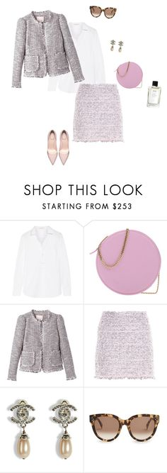 """Untitled #2475"" by nujixo ❤ liked on Polyvore featuring Yves Saint Laurent, MSGM, Balenciaga, Chanel and CÉLINE"