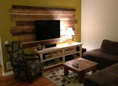 Plank Wall TV Backdrop