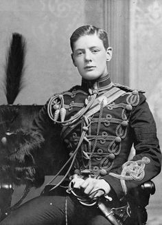 2nd Lieutenant Winston Churchill of the 4th Queen's Own Hussars in 1895, later Prime Minister of England and Father of Victory in WW2. Exquisite uniform and the British Empire attitude to go with it.