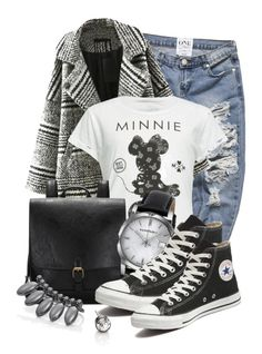 """""""Untitled #9320"""" by queenrachietemplateaddict ❤ liked on Polyvore featuring Relaxfeel, Neff, Burberry, Converse and ABS by Allen Schwartz"""