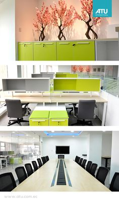 MAGAP: Located in Quito, this new project plays with a mixture of Team Work and Vivendi, with the aim of improving the distribution of staff.  In addition to the distribution, vegetation was designed around the floor with Zen masseter, generating an atmosphere of comfort, 50 workstations were generated.