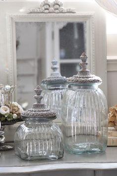 Glass jar ERNESTINE ~ Sarah Grace ~