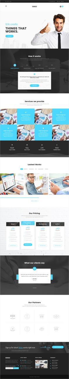 Odeo is a clean and professional 10 in 1 #bootstrap HTML #theme for #webdesign Business, Photo Studio, Freelancers, Portfolio, Personal, Medicine, Travel, Creative Agency, Corporate, Blog, Interior or eCommerce website download now➩ https://themeforest.net/item/odeo-multipurpose-business-html-template/18545321?ref=Datasata