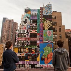 FAILE's Largest Mural in NYC