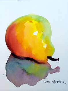 PEAR Original Watercolor Painting #watercolorarts
