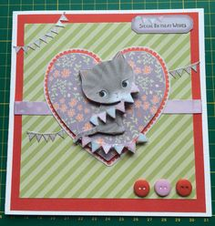 Handmade birthday card - Docrafts Little Meow collection Handmade Birthday Cards, Card Ideas, Dog Cat, Card Making, Paper Crafts, Kids Rugs, Cats, Collection, Cards