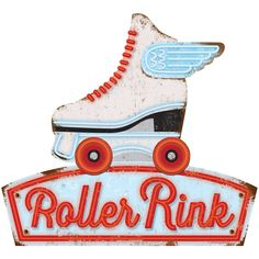 Vintage roller skate wall decal for a kid's bedroom or diner. Made in the USA. Made of matte polyester fabric, this retro wall sticker is easy to apply to most flat surfaces. Available in 12