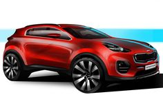 #Kia have given us glimpse of what the new ‪#‎Sportage‬ may look like in a series of ‪#‎official‬ sketches. Check it out here: http://www.carbuyer.co.uk/news/150076/new-kia-sportage-suv-teased