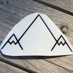 Simple Mountain Sticker Car stickers Car Decals by meddlemedia
