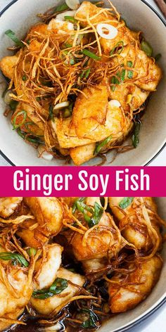 Crispy pan-fried fish fillet in a savory ginger-soy sauce. This fish recipe is s. - Crispy pan-fried fish fillet in a savory ginger-soy sauce. This fish recipe is so delicious you'l - Pan Fried Fish, Fried Fish Recipes, Easy Fish Recipes, Salmon Recipes, Asian Recipes, Healthy Recipes, Healthy White Fish Recipes, Recipes With Fish Sticks, Haddock Recipes