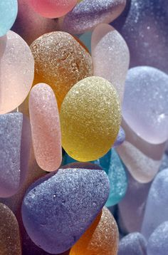 "Sea Glass.... not exactly in the ""Naturally"" but they are gorgeous since over time, these rocks have brushed around the sea, giving them their shape and smoothness."