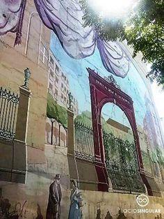 Puertas históricas (I)  Puerta al Duque de la Victoria 1861-1919 En Zaragoza recordamos nuestras puertas pintándolas en los lugares donde estuvieron en su día. Arte Urbano en la Plaza de San Miguel