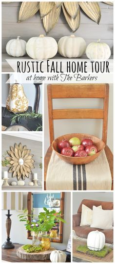 Rustic Fall Home Tour From athomewiththebarkers.com Modern Farmhouse style in a traditional brick home.