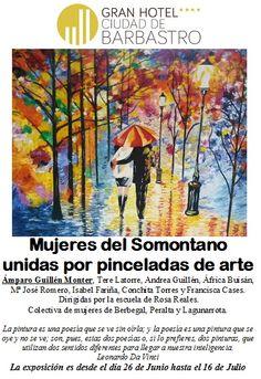 "Exposición ""Mujeres del Somontano unidas por pinceladas de #arte Ven a CantineArte www.ghbarbastro.com"