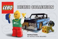 Hectic Lebo  The name says it all. This 'limited addition' card boats a hilarious theme. It illustrates a Lebanese looking lego figure wearing Adidas and Nike clothing, gold chain and bracelet holding his arm up in the air. He is posturing that he is the 'Hectic One'. In the background is his lego built 70s Cadillac car with his current girlfriend posing.  No instructions required as we all know many Lebanese do find it hard to follow instructions.  www.arabicgreetingcards.com.au Lego Figures, Nike Outfits, Hilarious, Funny, Cadillac, Christening, Special Day, Wedding Cards, Boats