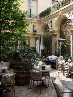 """Patio of """"Ralph"""", Ralph Lauren's Restaurant in Paris...beautiful"""