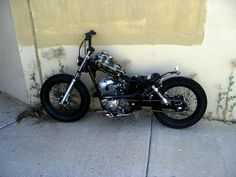 Honda Rebel 250 Bobber...so awesome it looks all stealthy in the shadows;)