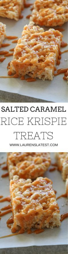 Salted Caramel Rice Krispie Treats...15 minutes to dessert time!