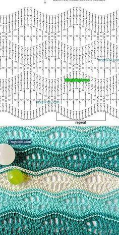 Watch This Video Beauteous Finished Make Crochet Look Like Knitting (the Waistcoat Stitch) Ideas. Amazing Make Crochet Look Like Knitting (the Waistcoat Stitch) Ideas. Crochet Edging Patterns, Crochet Motifs, Crochet Diagram, Crochet Chart, Crochet Afghans, Crochet Lace, Free Crochet, Stitch Patterns, Knitting Patterns