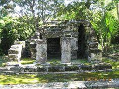 (Cozumel) Exploring the San Gervasio Mayan ruins (Mayan goddess Ixchel) used 200 AD to the Spanish conquest