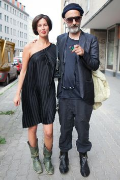 On the Berlin streets for fashion week. [Photo by Matti Hillig]