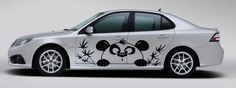 Vinyl Decal Funny Panda and Bamboo Tree Car  Side by BestDecals, $66.99