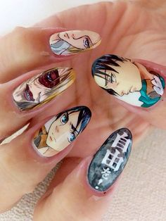 進撃の巨人(Attack on Titan) : Character nail art