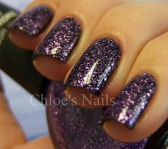 One Less Lonely Glitter (Nicole by OPI Justin Bieber collection) over black. SO pretty.