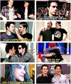 Dylan O'Brien and Tyler Posey - #BFF #besties #bros for life -- <3 love these two (Teen Wolf)