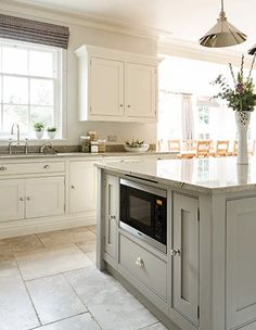 This open plan kitchen is the perfect space for family dining, with feature island and bespoke storage solutions complemented by Miele appliances. Kitchen Family Rooms, Big Kitchen, Kitchen On A Budget, Kitchen Living, Kitchen Decor, Kitchen Ideas, Kitchen Pics, Kitchen Colors, Wood Interior Design