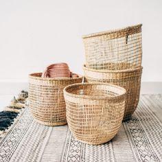 Seagrass Baskets – For Plants, Blankets, Storage Seagrass Storage Baskets, Baskets On Wall, Baskets For Plants, Baskets For Storage, Woven Baskets, Potted Plants, Empty Fireplace Ideas, Blanket Basket, Basket For Blankets