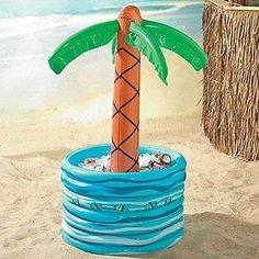 NEW Inflatable Palm Tree Beer Soda Cooler FREE SHIPPING Hawaiian Luau Party