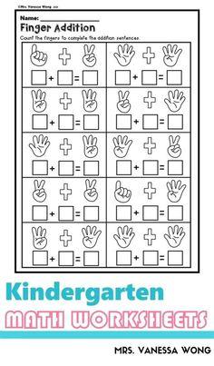 Calligraphy In 2020 | Preschool Math Worksheets, Math Kindergarten Addition Worksheets, 1st Grade Math Worksheets, Homeschool Kindergarten, Preschool Math, Kindergarten Worksheets, Addition Activities, Math For Kids, Math Centers, Free Printables