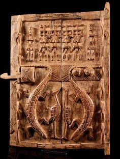 Africa | Door from the Dogon people of Mali | Wood