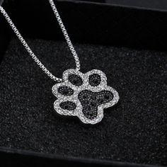 Black and White crystal rhinestone Dog Paw #paw #dog #puppylove