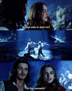 Pirates of the Caribbean Elizabeth Swann and Will Turner The Pirates, Pirates Of The Caribbean, Will Turner, Johnny Depp, Jack Sparrow Quotes, Cw Series, Pirate Life, Film Serie, Orlando Bloom